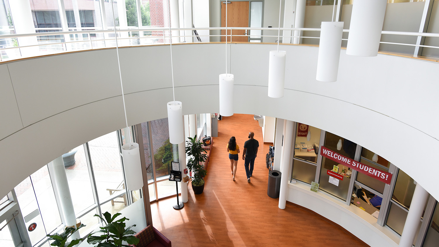 The lobby of Student Health Services, located on Cates Avenue.