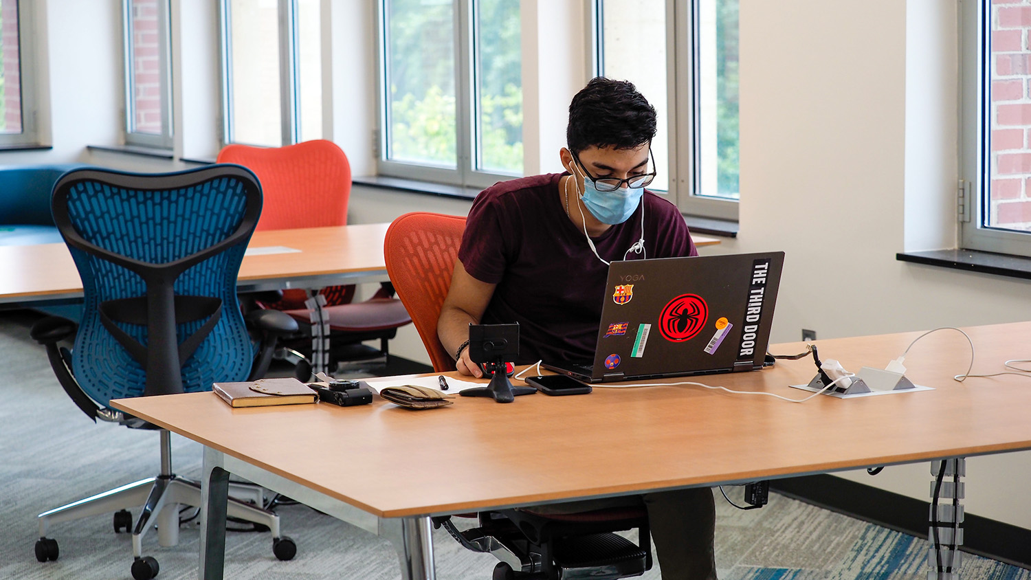 Students returned to campus for the fall 2020 semester to find portions of the DH Hill Library renovated and ready for socially distant studying.