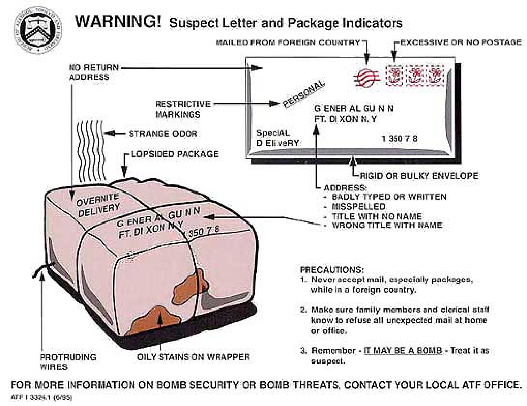 Suspicious package guidelines