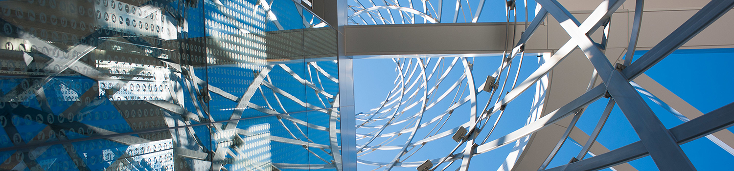 An architectural detail of Talley Student Union.