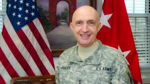A portrait of retired U.S. Army major general Nick Justice, now the executive director of PowerAmerica.