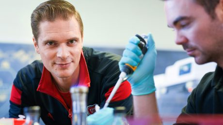 NC State professor Rodolphe Barrangou in his lab.